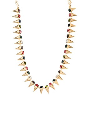 Image 1 ofASOS Signature Spike Necklace