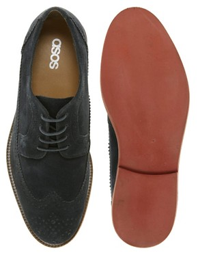 Image 3 ofASOS Brogues in Suede