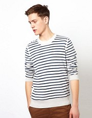 Ben Sherman Stripe Jumper with Crew Neck
