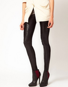 Image 4 ofKova &amp; T High Shine Leggings in Marble