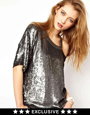 Image 1 ofAshish Exclusive to ASOS Bijou Slash Top