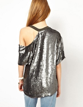 Image 2 ofAshish Exclusive to ASOS Bijou Slash Top