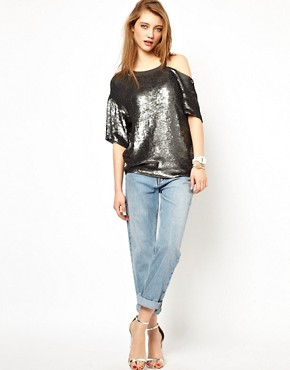 Image 4 ofAshish Exclusive to ASOS Bijou Slash Top