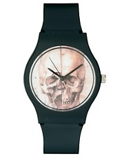 MAY 28TH Skull Watch Black Matte Plastic Buckle Exclusive to ASOS