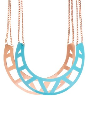 Image 1 of ASOS Pack of Two Cut Out Torque Necklaces