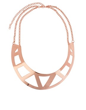 Image 2 of ASOS Pack of Two Cut Out Torque Necklaces