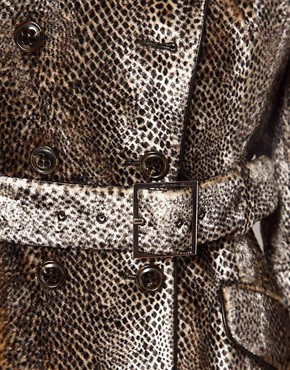 Image 3 ofKaren Millen Snake Pony Coat