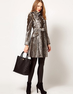Image 4 ofKaren Millen Snake Pony Coat