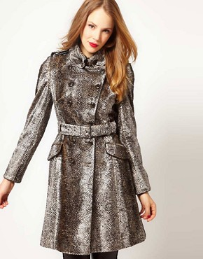 Image 1 ofKaren Millen Snake Pony Coat