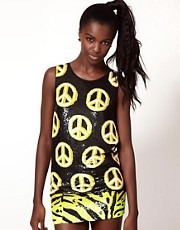 Ashish Peace Sign Tank with Low Arm Hole