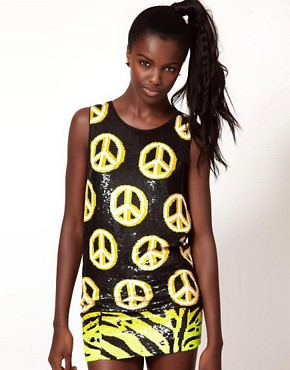 Image 1 ofAshish Peace Sign Tank with Low Arm Hole