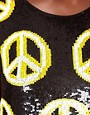 Image 3 ofAshish Peace Sign Tank with Low Arm Hole