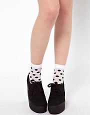 ASOS 60 Den Large Polka Dot Ankle Socks