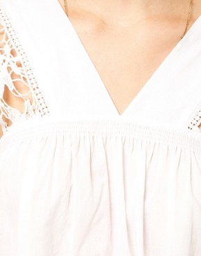 Image 3 ofASOS PETITE Exclusive Cutwork Cotton Mini Dress