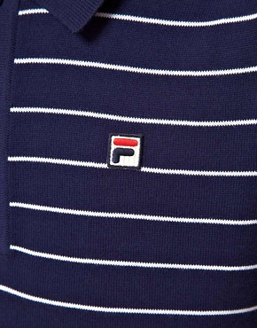 Image 3 ofFila Vintage Delfanio Stripe Knitted Polo