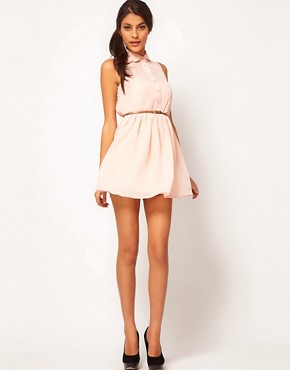 Image 4 ofASOS PETITE Exclusive Shirt Dress With Belt