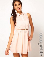 ASOS PETITE Exclusive Shirt Dress With Belt