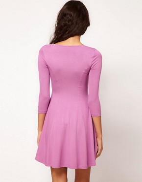 Image 2 ofASOS Skater Dress With Sweetheart Neck
