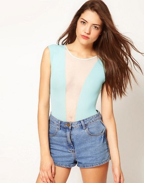 Image 1 ofAmerican Apparel Mesh Panel Body