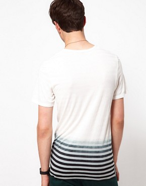 Image 2 ofUnconditional T-Shirt with Striped Dip Dye Print