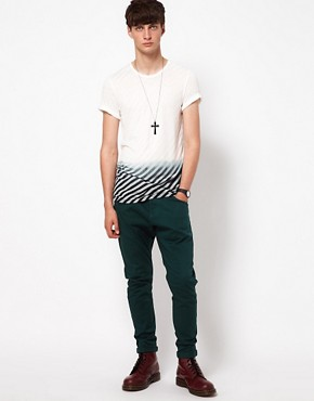 Image 4 ofUnconditional T-Shirt with Striped Dip Dye Print