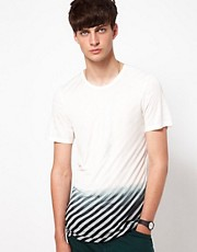 Unconditional T-Shirt with Striped Dip Dye Print