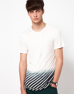 Image 1 ofUnconditional T-Shirt with Striped Dip Dye Print