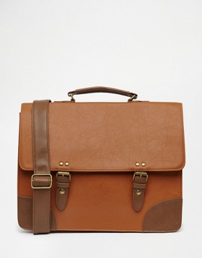 ASOS Smart Satchel With Contrast Trims