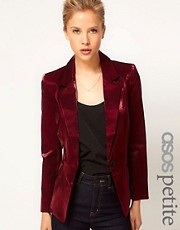 ASOS PETITE Exclusive Blazer With Metallic Sheen