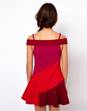 Image 2 ofThree Floor Flounce Dress In Colour Block