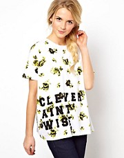 ASOS T-Shirt Clever Aint Wise Floral T-Shirt