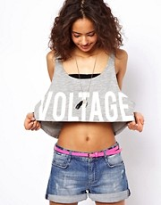 ASOS Cropped Vest with Voltage Burnout