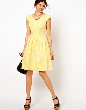 Image 4 ofEmily &amp; Fin Polka Skater Dress