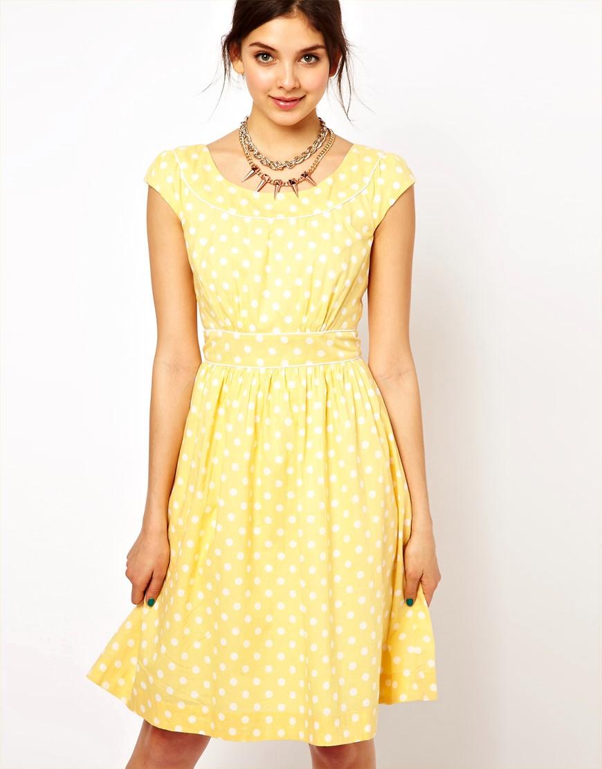 Image 1 ofEmily & Fin Polka Skater Dress