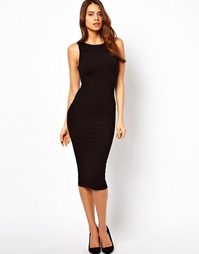 Image 1 ofASOS Bodycon Dress With Shoulder Bow Detail