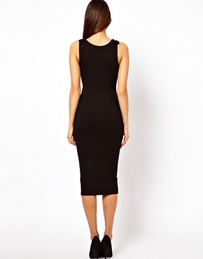 Image 2 ofASOS Bodycon Dress With Shoulder Bow Detail