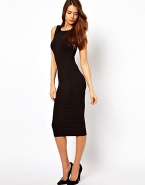 Image 4 ofASOS Bodycon Dress With Shoulder Bow Detail
