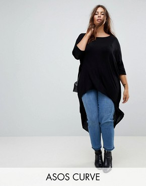 ASOS CURVE Top with Dip Back