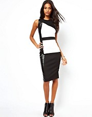 ASOS Colour Block PU Dress