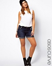 ASOS CURVE Exclusive Denim Short With Studs