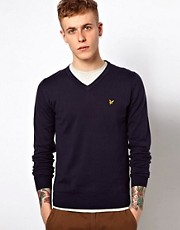 Lyle & Scott &ndash; Vintage-Pullover mit V-Ausschnitt