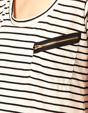 Image 3 ofLnA Stripe Zipper T-Shirts