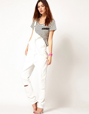Image 4 ofLnA Stripe Zipper T-Shirts