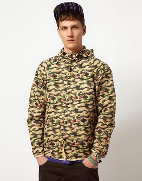 Image 1 of ASOS Packable Anorak In Camo