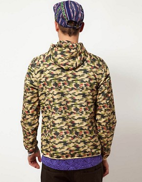 Image 2 of ASOS Packable Anorak In Camo