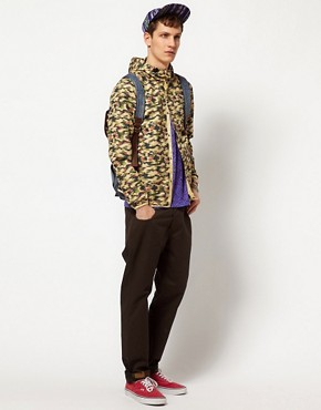 Image 4 of ASOS Packable Anorak In Camo