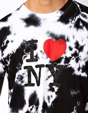 Reclaimed Vintage T-Shirt with I Heart NY Tie-Dye Print