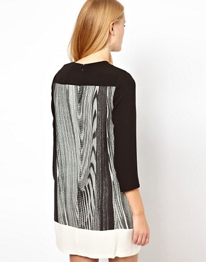 Image 2 ofWhistles Woodgrain Print Dress