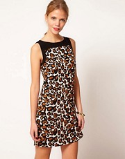 Oasis - Vestito con stampa leopardata
