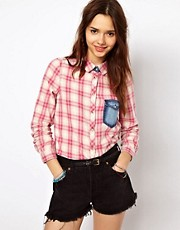 River Island Pretty Check Western Shirt